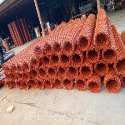 养家禽用菱型钢板网 圈地菱型围栏网 防锈漆钢板网片