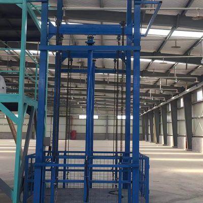 黄山升降货梯厂家定做供应导轨式液压升降机