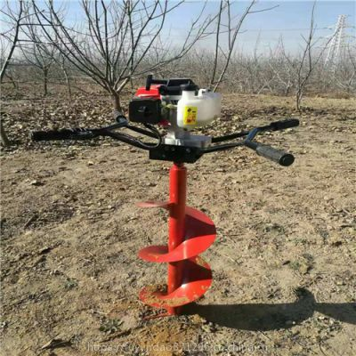 小型便携式挖坑机超强动力