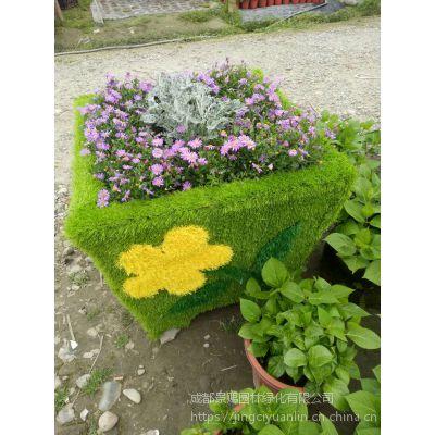专业生产雕塑花箱厂家定制植物造型仿真绿雕花雕