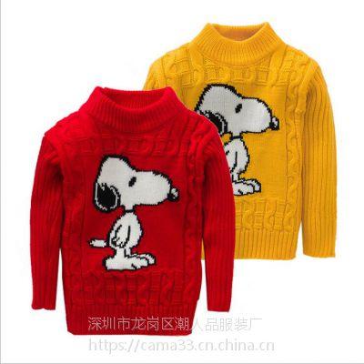 尾货韩版儿童毛衣批发 男女宝宝针织衫卡通儿童毛衣