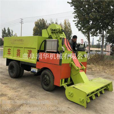 连续收粪清粪车 传送猪粪清粪机 柴油490发动机刮粪车