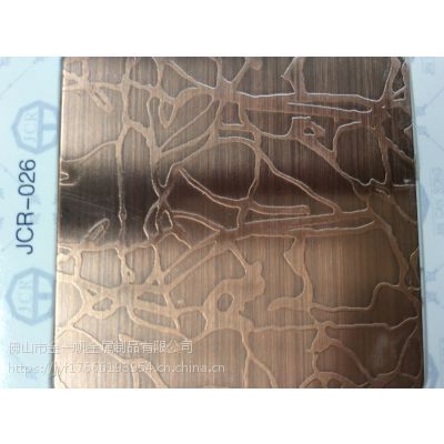 玫瑰不锈钢蚀刻板 佛山金一帆板材定制