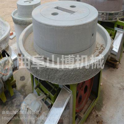 天然青石老磨盘手工米粉机 电动石磨豆浆机 山博制造