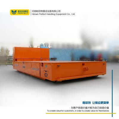 蓄电池无轨平车型材的生产电动转运平板车新乡百特30吨无轨胶轮平车