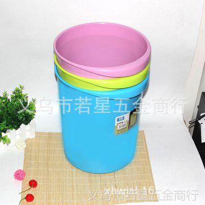 厂家直销创意时尚欧式卧室厕所卫生间厨房客厅塑料无盖圆形垃圾桶