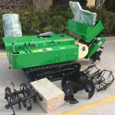 山药种植自动开沟机 自走式35马力大棚开沟施肥机富兴