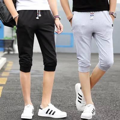 男装运动七分裤青年韩版男休闲短裤尾货批发