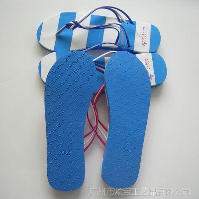 2018订做品牌时尚编织带EVA女沙滩鞋凉拖鞋女式沙滩拖鞋