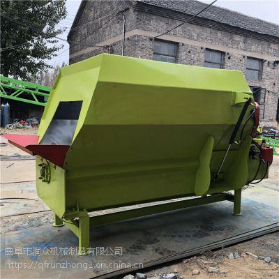 养殖5立方tmr搅拌机牵引 立式行走式混料机 全粮牛羊饲料搅拌机