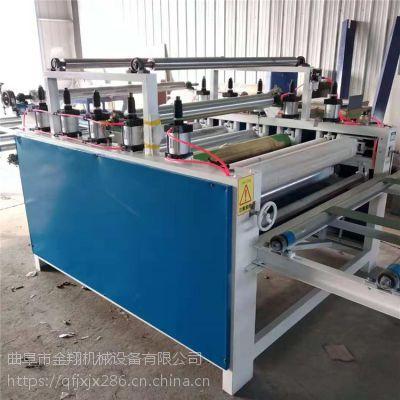 全自动封边机木工 装饰板免漆木纹纸贴面机设备技术参数 覆面机 电脑程控