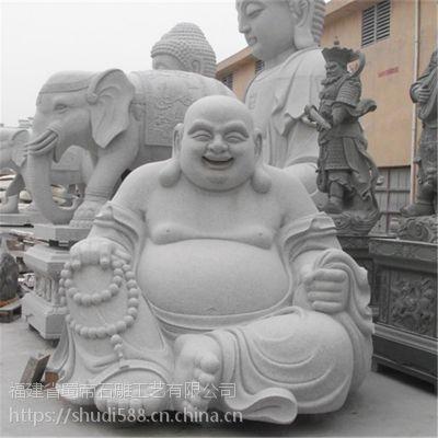 直销供应石雕大理石寺庙弥勒佛布袋和尚坐佛求财工艺品摆件雕塑