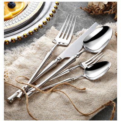 小蛮腰刀叉酒店高档304不锈钢刀叉勺 亮光可镀牛排刀西餐餐具套装