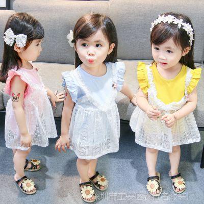 女宝宝夏装连衣裙2018新款女童婴儿女孩子公主裙01-2-3岁无袖裙子