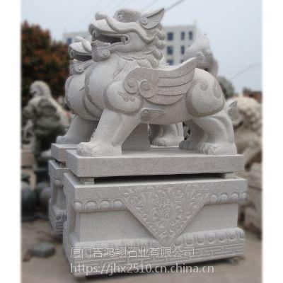 厂家供应圆雕仿古石雕花岗岩动物石貔貅招财进宝