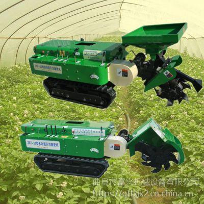 果园施肥旋耕机-圆盘公路开沟槽设备富兴-新款果园开沟施肥机