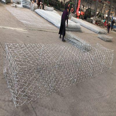 防洪高锌包塑格宾网规格定制-双绞合六角形雷诺护垫图片