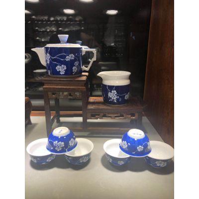 景德镇功夫茶具套装家用青瓷茶杯陶瓷现代客厅简约泡茶壶