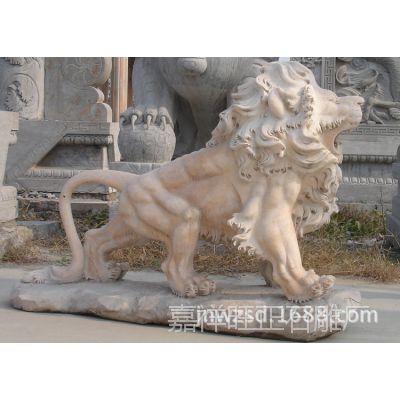 大理石石狮子雕刻厂家 花岗岩石材狮子哪里卖