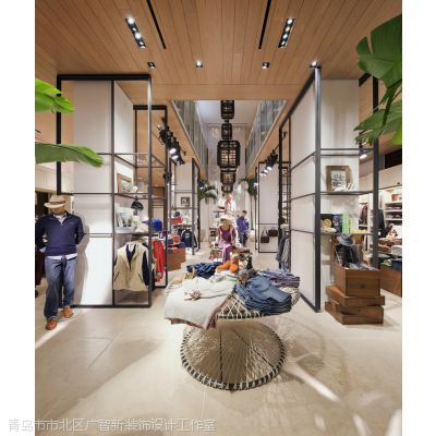 青岛旗舰店装修怎么设计青岛在哪有专业设计旗舰店的我怎么样能把店面设计的与众不同