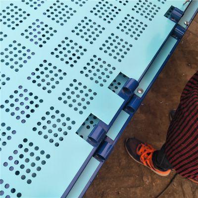 海南爬架网供应 金属外架网 铁板冲孔爬升网 圆孔