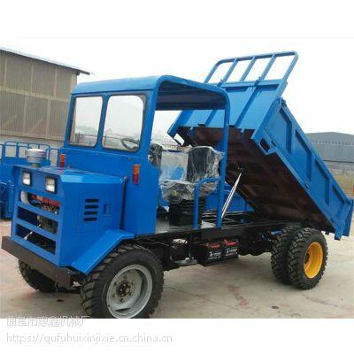煤炭输送用的工程四轮车/厂家直供柴油四驱四不像/农民拉玉米小麦用的四轮拖拉机