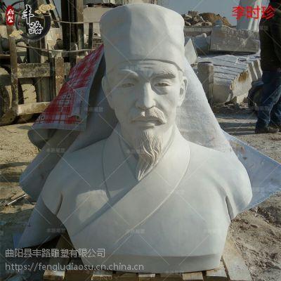 80cm汉白玉毛主席胸像 石雕药王毛主席雕像 校园雕塑