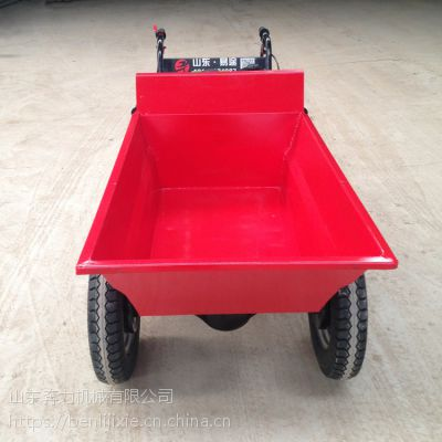 有刹车的工地两轮车 汽油动力爬山运输机 奔力FD-K10