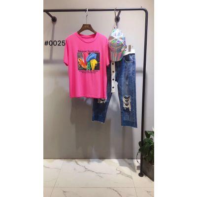 一线品牌折扣女装店货源走份时尚潮流女装尾货短袖T恤