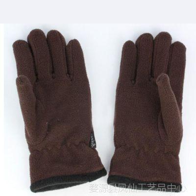 冬天保暖男士手套 秋冬保暖冬天季加厚保暖分指冬季摇粒绒骑车手