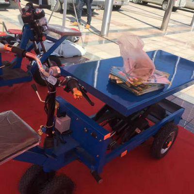 手推电动四轮平板车电动载人爬山虎卡博恩电动堆高车质优价廉