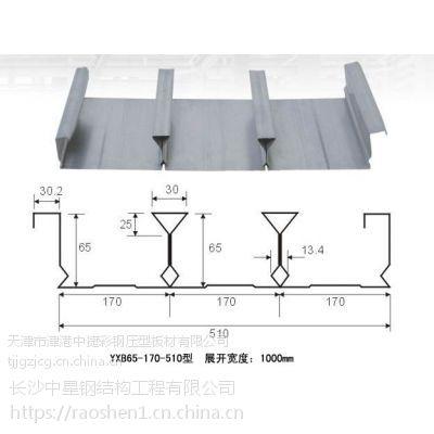 湖南中创 厂家供应500型 510型 555型 600型 镀锌闭口楼承板