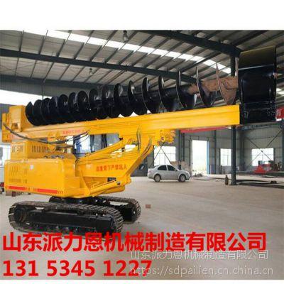 湖南邵阳小型护栏打桩机波形梁护栏打桩机配备专用拔桩机-派力恩
