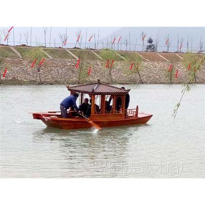 出售武汉内河公园小木船/仿古手划木船/6米单亭船