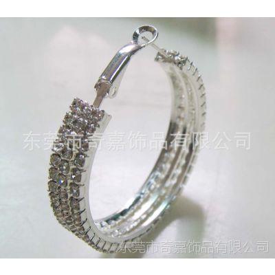 厂家供应 车床线割水钻金属耳环 韩版时尚耳钉 不锈钢耳环