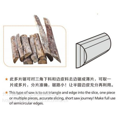 多片锯厂家供应 边皮改厚锯 锯原木边皮专用