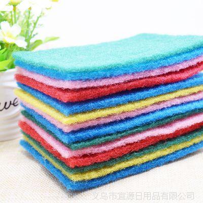 厂家直销 地摊日用百货百洁布厨房清洁刷彩色海绵百洁布 百洁布洗