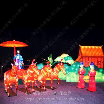 中璞节日花灯生产厂家承接大型节日灯会花灯组中秋节元宵灯会设计