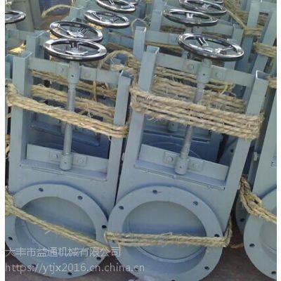 橡胶密封500*500电动插板阀DN500手动闸门