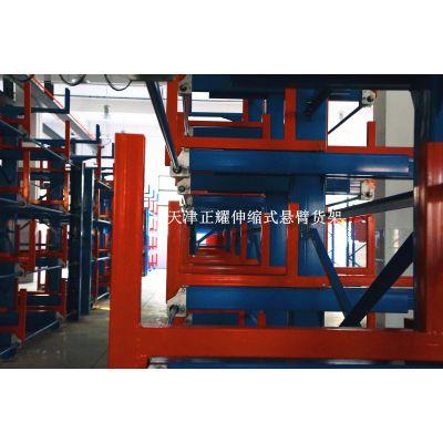 上海钢管存储好办法 伸缩式悬臂货架定制 12米型材存放