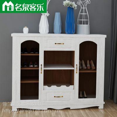 大连板式家具XG77-1-8-1200简约现代鞋柜工厂直销