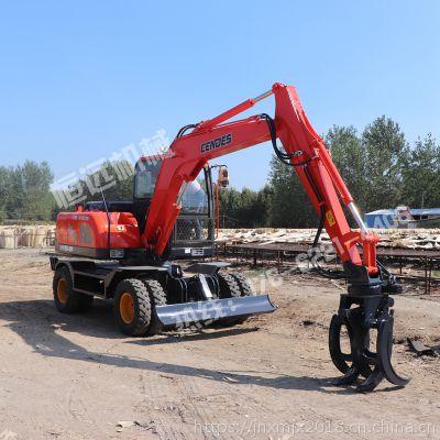广东河源轮式抓木机总经销 轮胎式抓树机 轮式挖掘机 小型装载机厂家