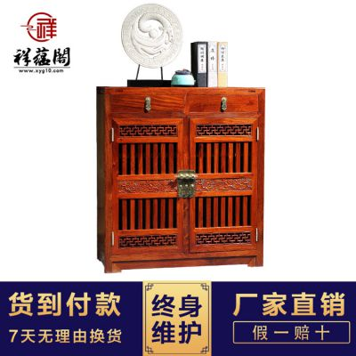 红木鞋柜批发 中式古典鞋柜玄关柜 缅甸花梨木鞋柜一件代发