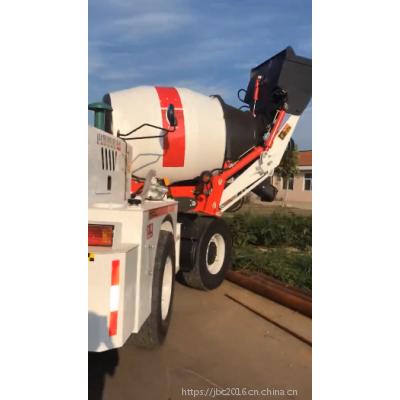 众和盛鲁东1.2方自行填装料水泥罐车 智能配料的四轮混凝土搅拌车
