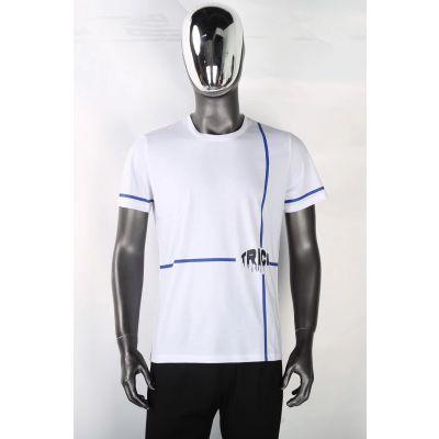 广州品牌服装批发货源中心时尚双丝光棉短袖一手货源