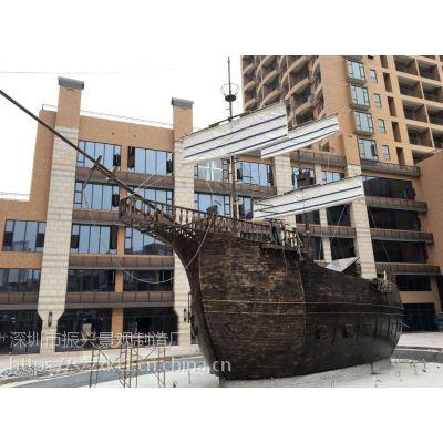 长治漂亮景观船、园林景观景点佳作 —古代木船观赏船设计 (振兴)