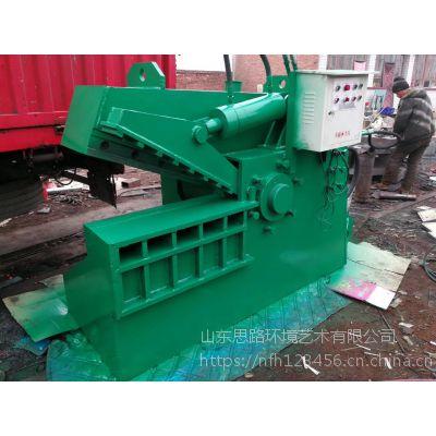 山东思路供应鳄鱼剪配件 风冷式鳄鱼剪切机多少钱4个厚废钢剪切机