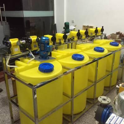 2吨塑料搅拌桶(可配电机) 2立方母液搅拌罐 软化合成加药箱设备