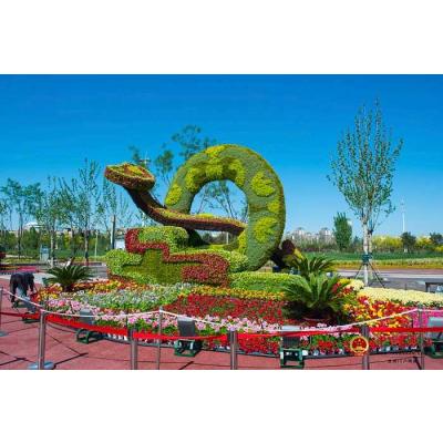 仿真立体花坛绿雕 花朵造型仿真绿雕制作以及报价