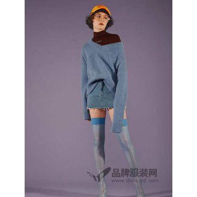 广州健凡服饰品牌折扣女装大码女装第五朵全毛毛衣批发走份一手货源